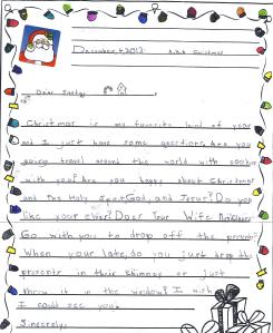 Charlie santa letter